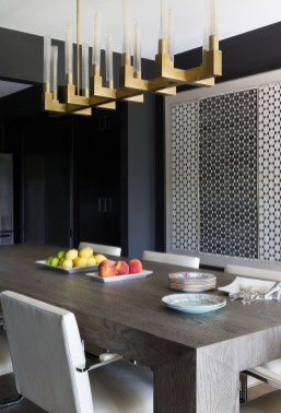 Luxurious Black And Gold Dining Room Ideas For Inspiration33