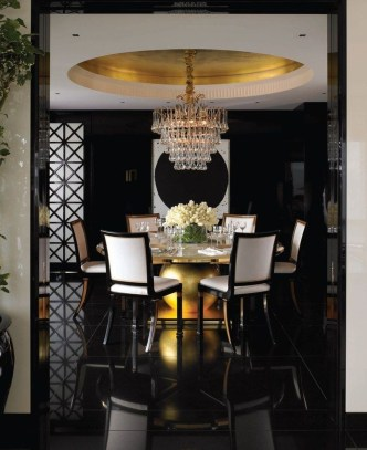 Luxurious Black And Gold Dining Room Ideas For Inspiration36