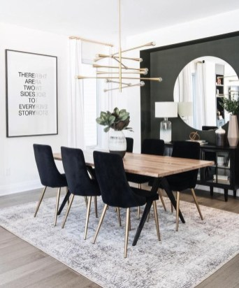 Luxurious Black And Gold Dining Room Ideas For Inspiration38