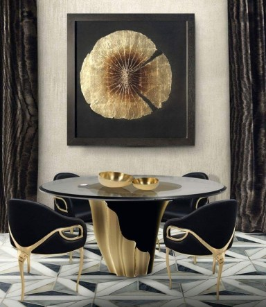Luxurious Black And Gold Dining Room Ideas For Inspiration39