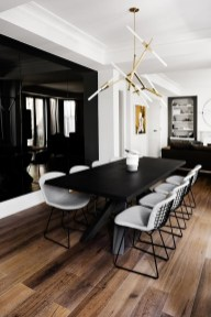 Luxurious Black And Gold Dining Room Ideas For Inspiration40