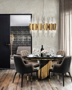 Luxurious Black And Gold Dining Room Ideas For Inspiration41
