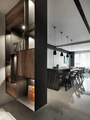 Modern Living Room Partition Ideas07