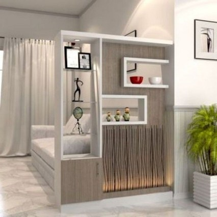 Modern Living Room Partition Ideas28