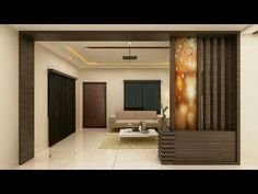 Modern Living Room Partition Ideas29