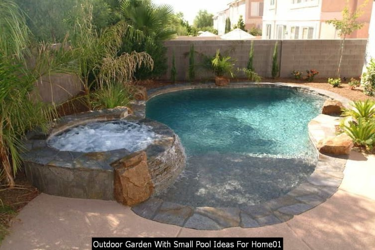 Outdoor Garden With Small Pool Ideas For Home01