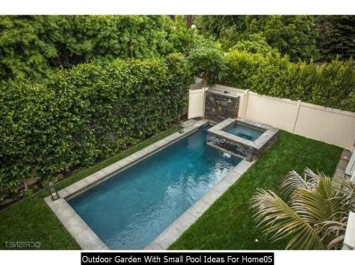 Outdoor Garden With Small Pool Ideas For Home05