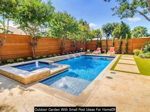 Outdoor Garden With Small Pool Ideas For Home09