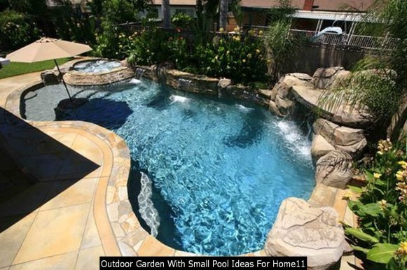Outdoor Garden With Small Pool Ideas For Home11