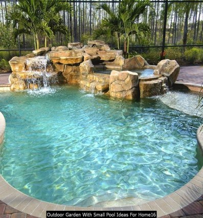 Outdoor Garden With Small Pool Ideas For Home16