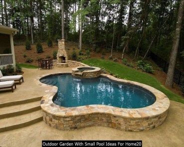 Outdoor Garden With Small Pool Ideas For Home20