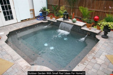 Outdoor Garden With Small Pool Ideas For Home22