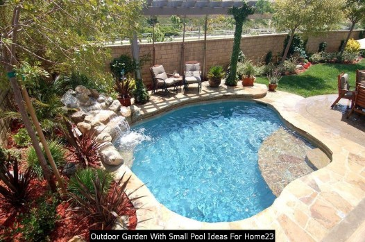 Outdoor Garden With Small Pool Ideas For Home23