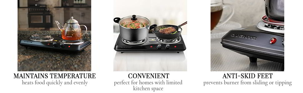 Ovente Electric Double Coil Burner