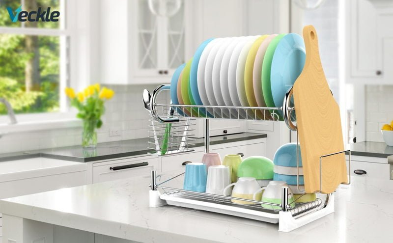 Veckle 2 Tier Dish Drying Rack