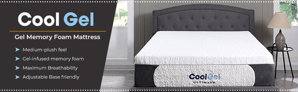 Classic Brands Cool 1.0 Ultimate Gel Memory Foam 14-Inch Bonus 2 Pillows Mattress