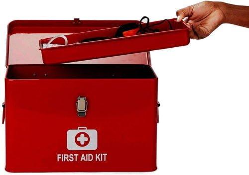 Mind Reader Vintage First Aid Box