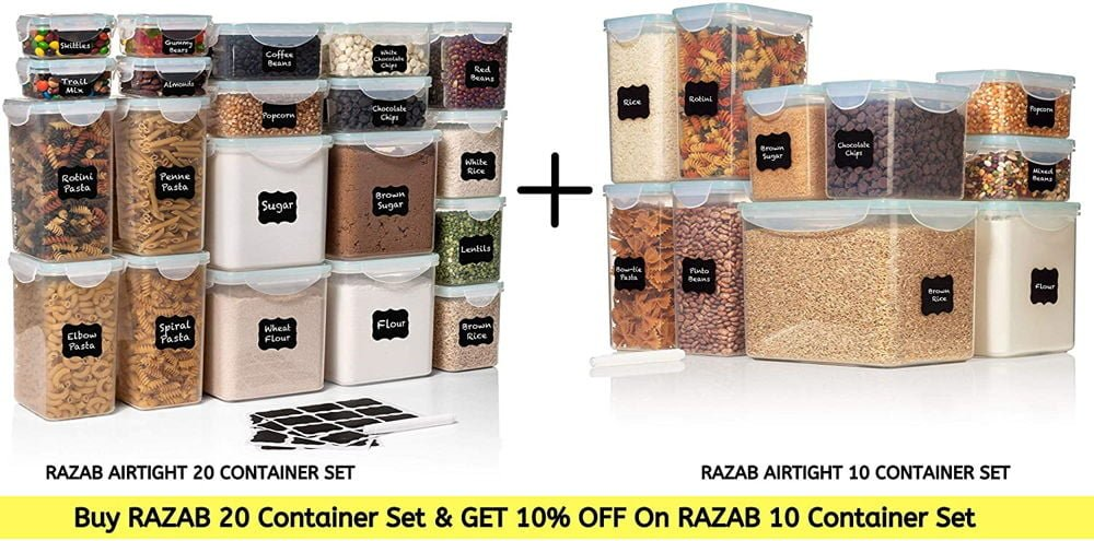 Razab TALL WIDE DEEP Food Storage Containers