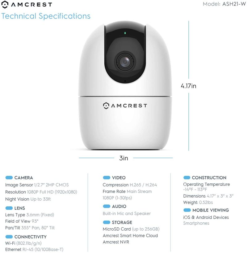 Amcrest Smart Camera Features