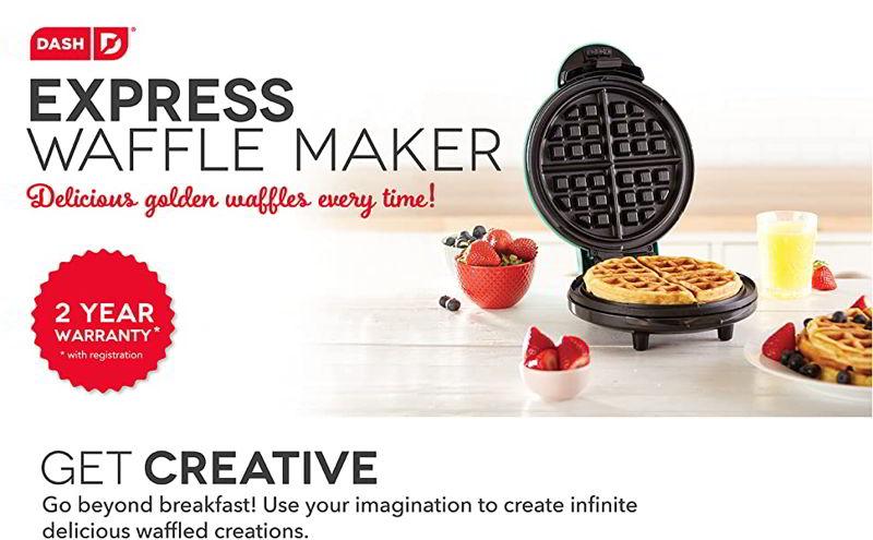 "Dash DEWM8100AQ Express 8"" Waffle Maker Machine"