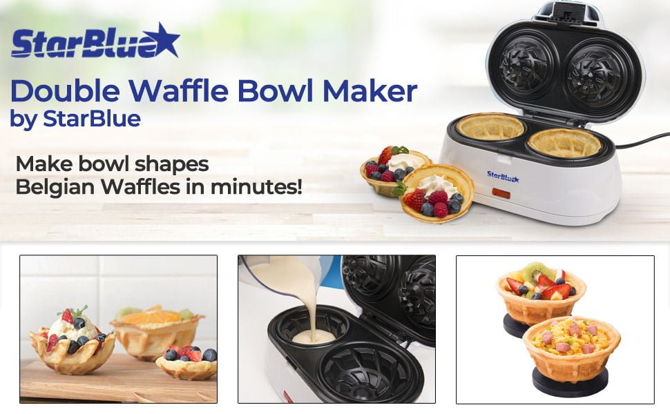 StarBlue Double Waffle Bowl Maker