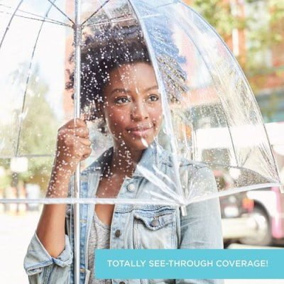 Womens Clear Bubble Umbrella
