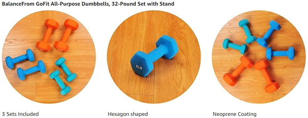 BalanceFrom GoFit All Purpose Dumbbells 1
