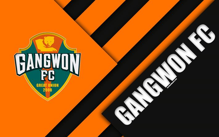 Download wallpapers Gangwon FC, 4k, logo, South Korean football ...
