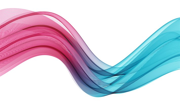 vagues turquoise violet abstraction