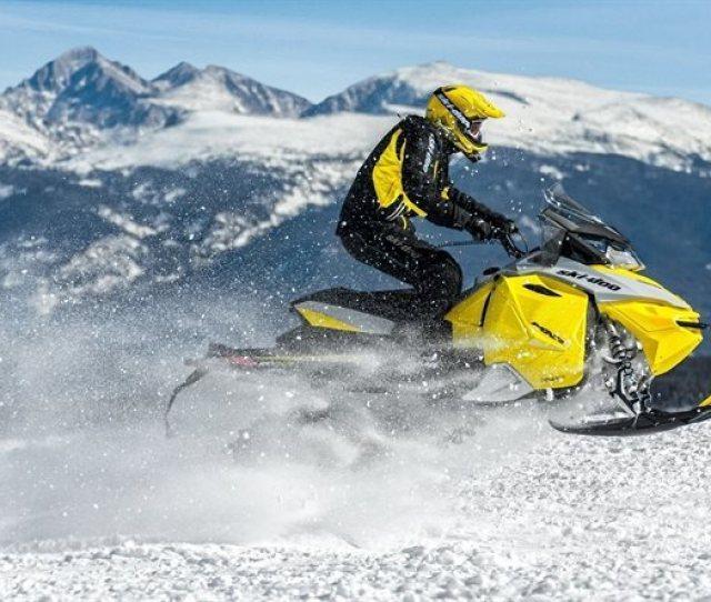 Jump Snow Snowmobile Mountains Ski Doo Mxz