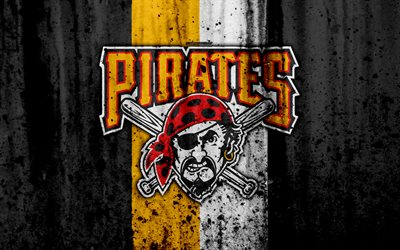 Download Wallpapers 4k Pittsburgh Pirates Grunge