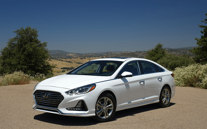 Download Wallpapers Hyundai Sonata Korean Cars 2018 Cars