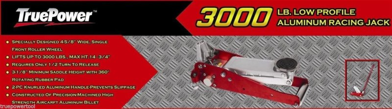 TruePower 1-1/2 Ton 3000 LB Aluminum Racing Floor Jacks