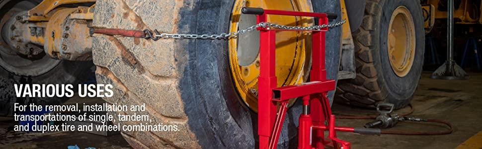 1500lb. Capacity Hydraulic Wheel Dolly