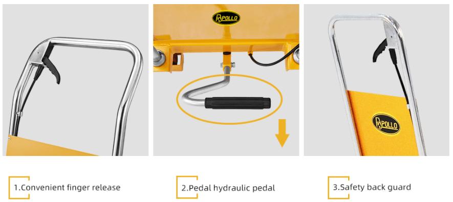 APOLLO LIFT Double Scissor Hydraulic Lift