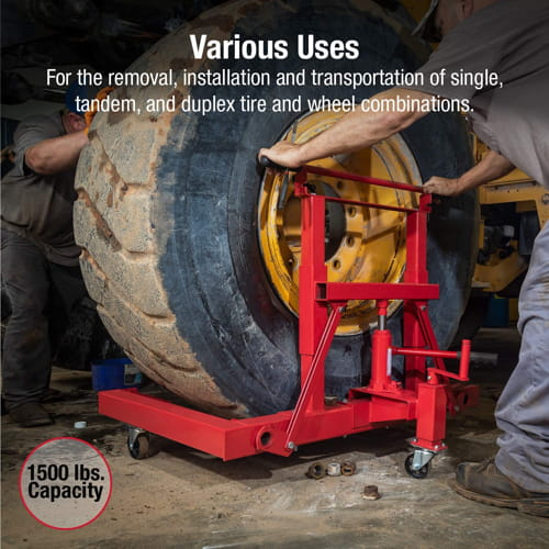 Capacity Hydraulic Wheel Dolly Sunex International 1501 1500lb.