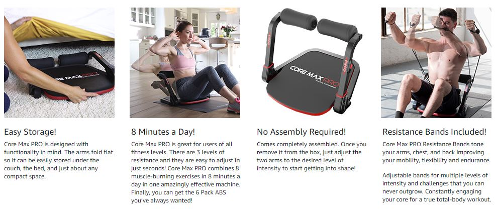 Core Max PRO with Resistance Bands Abs 1