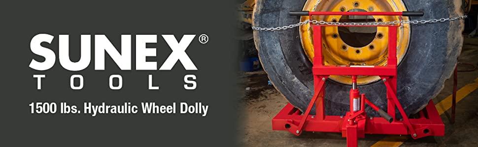 Sunex International 1501 1500lb. Capacity Hydraulic Wheel Dolly