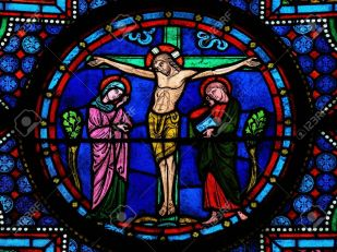 17950849-Stained-glass-window-depicting-Jesus-on-the-Cross-in-the-cathedral-of-Bayeux-Normandy-France-This-wi-Stock-Photo.jpg