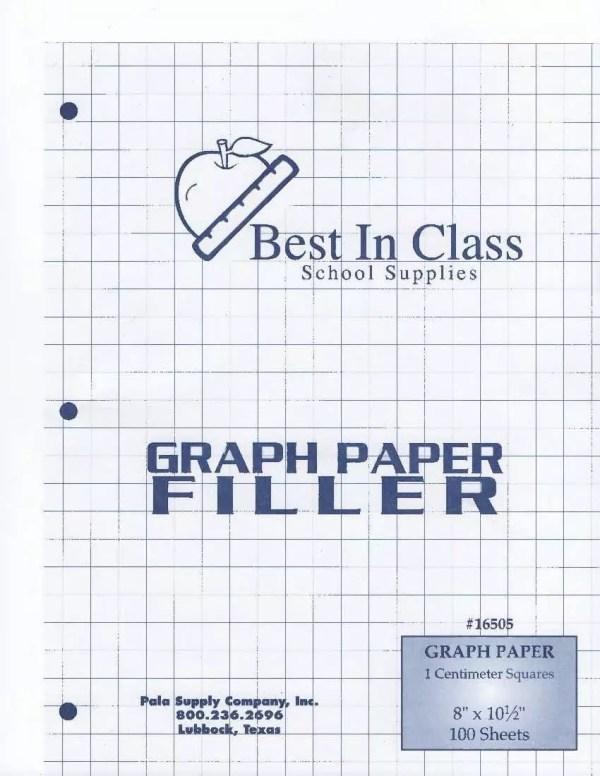 Graph Paper 1 centimeter(cm) square 100 sheets