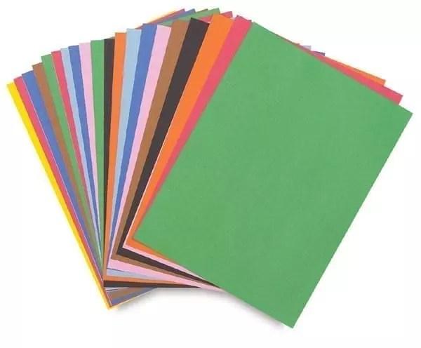 """Construction Paper, Asst Colors, 9"""" x 12"""""""