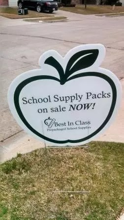 Driveway Sign, school supply pack sale