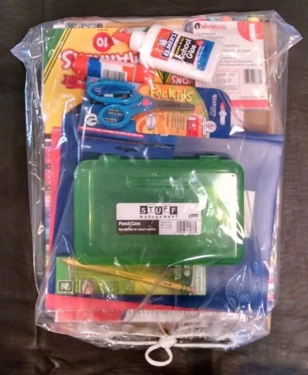 Kindergarten Boy School Supply Pack - Myatt Elem