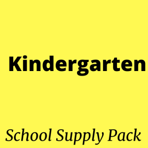 kindergarten school supply pack kit