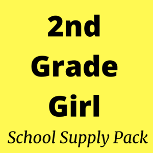 2nd Grade Girl School Supply Pack