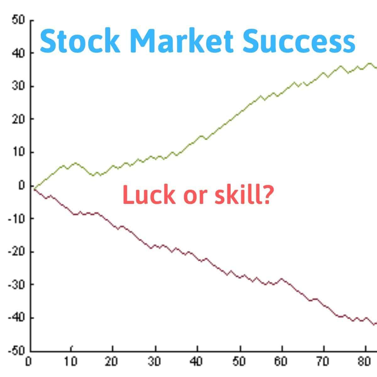 stock market success luck skill
