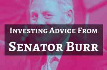 investing advice from senator burr