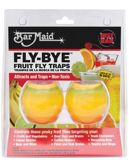 Bar Maid Fly Bye Fruit Fly Traps