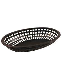 Bar Maid CR-654BLK Oval Fast Food Basket