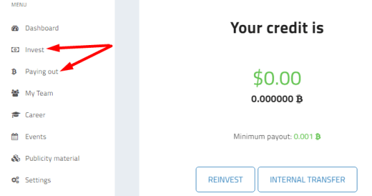 Paying out